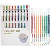 STAPENS Retractable Gel Pens, Colored Ballpoint Pens with Refills, 9 Assorted Colors (Retro 9 Colors)