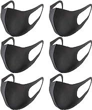 Cemic マスク 黒 6枚入 ファッションスタイル 立体構造 ポリウレタン製 繰り返して使用可 水洗い可 乾燥対策 PM2.5 黄砂a ハウスダスト 風邪 対策 秋冬 メンズ レディース 品質保証