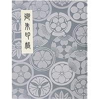 御朱印帳 60ページ ブック式 ビニールカバー付 法徳堂オリジナルしおり付 花紋 白銀