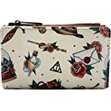 Loungefly Harry Potter Tattoo Print Faux Leather Bi-fold Wallet