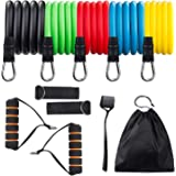 Ozpedite Resistance Tube Set | Includes Door Anchor, Foam Handles, Ankle Straps, Workout Guide, Carry Bag | Perfect Home Gym