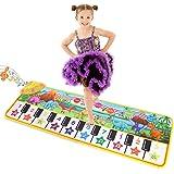 "Musical Piano Mat 43"" x 14"" Keyboard Play Mat Kids Piano Mat Dinosaur Dance Mat Electronic Piano Carpet for Kids Toddler Boys"