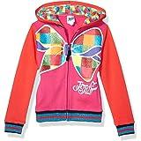 JoJo Siwa Girls Big Bow Zip Up Athletic Hoodie Long Sleeve Hooded Sweatshirt - Multi