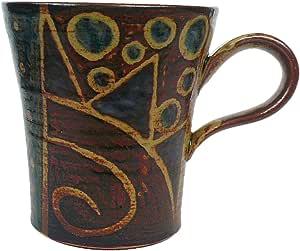 クラフ陶スタジオK's マグカップ 茶 小 太陽