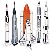 Echo Toys Spaceship Rocket Set - 5 Piece Space Program NASA Collector's Set - Mercury, Gemini, Apollo, Saturn Rockets And Spa