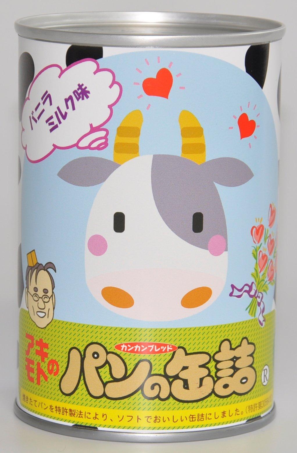 アキモト 缶入りパン バニラミルク味 100g