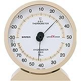 エンペックス気象計 温度湿度計 スーパーEX 温湿度計 置き掛け兼用 日本製 シャンパンゴールド EX-2718