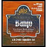 GHS Strings PF140 J.D. Crowe Signature Series (Studio), 5-String Stainless Steel Banjo Strings (.009 1/2-.020)
