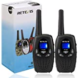 Retevis RT628 VOX UHF Portable 8 Channel FRS Kids Walkie Talkies (Black,1 Pair)