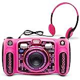 VTech Kidizoom Duo 5.0 Deluxe Digital Selfie Camera with MP3 Player & Headphones, Pink