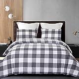 Cozyholy Luxury Modern Duvet Cover Set Tropical Design Vintage Classic Plaid Grid Striped Comforter Cover Ultra Soft Zipper C