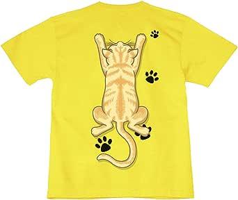 [GENJU] Tシャツ 猫 ネコ にくきゅう アメカジ 表もデザイン有 メンズ キッズ