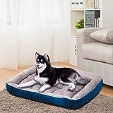 PaWz Pet Bed Dog Beds Bedding Mattress Mat Cushion Soft Pad Pads Mats L Navy Navy Blue L