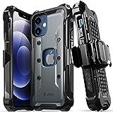"Vena vArmor Apple iPhone 12 Mini (5.4""インチ) 専用 ケース (米軍MIL規格取得   落下 衝撃 吸収) 3重構造 携帯保護カバー 耐衝撃 スマホ ケースベルトクリップ ホルスター キックスタンド 機能付き"