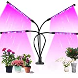 Upgraded 4 Head LED Grow Light for Indoor Plants, 80 LEDs Adjustable Growing Lamp, 9 Dimmable Levels, 3/9/12H Timer, Hydropon