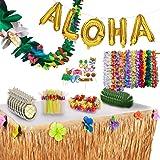 Luau Party Decorations and Supplies Complete MEGA Pack - 175 Items - Hawaiian Birthday Aloha Summer Beach Tropical Theme Deco