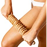 Tuuli Accessories Anti Cellulite Massage Roller Tool Massager Maderotherapy Wooden 15.7 inches