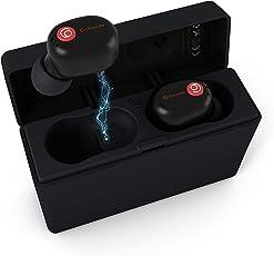 完全ワイヤレスイヤホン Gemini+Bluetooth 5.0フルワイヤレスイヤホン 両耳通話Bluetooth イヤホン 90時間連続使用ブルートゥースイヤホン by Gonovate (Siri対応/マイク内蔵/IPX4防水/左右分離型/音量調節/一年保証)