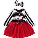 GRNSHTS Baby Girl Thanksgiving Halloween Outfits Toddler Girl Pumpkin Tutu Dress Striped Skirts with Headband Playwear Clothe