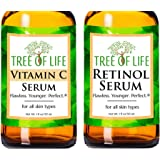 Anti Aging Serum Two-Pack - Vitamin C Serum - Retinol Serum - Anti Aging Serums For Daytime And Nighttime Skincare Regimens -