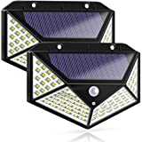 Findyouled Solar Lights Outdoor,100 LED Motion Sensor Solar Security Lights, Outdoor Waterproof Solar Wall Light for Gate,Yar