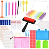60 Pieces 5D Diamond Painting Tools, PETUOL DIY Painting Accessories Diamond Cross Sticky Drill Pen Clay, Plastic Tray Kits a