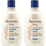 Aveeno Baby Soothing Relief Creamy Wash with Natural Colloidal Oatmeal for Dry & Sensitive Skin, Hypoallergenic & Tear-Free F