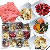野菜チップス 果物チップス プレゼント 風呂敷付 贈り物 4種12袋セット 健康おやつ 特殊減圧フライ製法 8種類