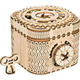 ROBOTIME 3D Wooden Treasure Box Puzzle Unique Model Kits to Build Mechanical Engineering Kits Great Birthday for Adults and C