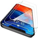 CASEKOO iPhone12 用 ガラスフィルム iPhone12pro 用 ガラスフィルム 6.1インチ ガイド枠付き 2枚セット 日本旭硝子製 強化ガラス 気泡ゼロ 透過率99.9% 飛散防止 アイフォン12用 アイフォン12 pro用 保護