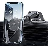 【令和進化版】DesertWest 車載ホルダー 粘着ゲル吸盤 スマホホルダー 車 携帯ホルダー 車 カーホルダー 伸縮アーム ケース対応/斬新なギア連動技術/片手操作可能/ワンタッチ/360度回転可能/4.5-6.7インチ多機種対応 iphone