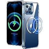 ESR iPhone 12 Pro Max用 ケース HaloLockマグネットリング付き 磁気ワイヤレス充電対応 傷防止 握りやすいフレーム クリア