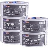 【Amazon 限定ブランド】ADHES 養生テープ 白 ガムテープ はがせる 台風 窓ガラス用 50mmⅹ25m 5巻入り (YB16-弱粘着)