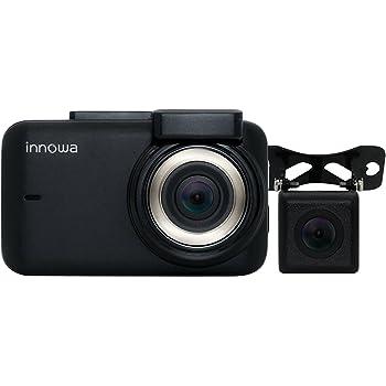innowa Journey Plus (現在のファームウェア)ドライブレコーダー 前後 デュアルカメラ フルHD Wi-Fi GPS 160度広角 常時/衝撃録画 駐車監視 2年保証 32GBのSDカード付