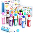 Dot Markers Kit, Ohuhu 12 Colors Paint Marker (40 ml, 1.41 oz.) with a 30 Pages Activity Book, Water-Based Non-Toxic Bingo Da