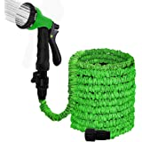 """Agichose 100FT Garden Hose Reel Wall Mount Expandable 3 Times TPE Super-Strength High Pressure Flexible Water Hose with 3/4"""""""