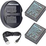 Newmowa BLH-1 互換バッテリー 2個+充電器 対応機種 Olympus BLH-1 Olympus EM1…