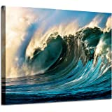 Seascape Canvas Art Wall Decor - Copyright Licensed Image with high Resolution Definition Print on Canvas, Canvas Surface ; W