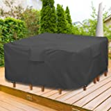 """GARDRIT Upgraded Patio Furniture Covers, 100% Waterproof Square Patio Table Cover, 54"""" L x 54"""" W x 27.5"""" H 600D Tear-Resistan"""