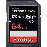 サンディスク Extreme Pro SDXC 64GB カード UHS-I 超高速U3 V30 Class10 4K対応【 5年保証 】 [並行輸入品]
