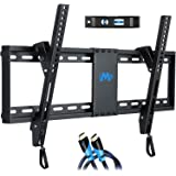 "Mounting Dream Tilt TV Wall Mount Bracket for Most 37-70 Inches TVs, TV Mount with VESA up to 600x400mm, Fits 16"", 18"", 24"" S"