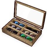 SRIWATANA サングラス収納ケース メガネ収納ボックス コレクションケース ジュエリー収納 6本用 小物アクセサリ収納整理 眼鏡ケース