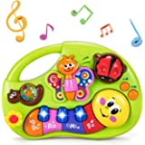 HOLA Musical Baby Toys 6 to 12 Months, Baby Piano Keyboard Light Up Bugs Toy, Learning Education Toys for 6-12 Months, 6 9 12