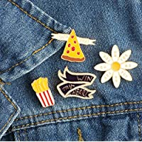 USport Fashion Chrysanthemum Shaped Enamel Brooch Pin Badge for Clothes Bags Backpacks Pin (White)