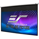 """Elite Screens Manual B, 100"""" 16:10, Manual Pull Down Projector Screen 4K / 3D Ready with Slow Retract Mechanism, 2 Year Warra"""