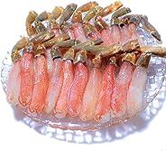 黒帯 ギフトセット 生ズワイガニ 脚 特大 生 ずわい蟹 足 棒肉 ポーション かに むき身 良品選別済 (500g 20-25本前後入)