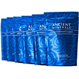 Ancient Minerals Magnesium Bath Flakes Single use Magnesium Chloride Pouches 0.33lb Bag, Pack of 6