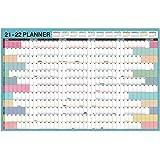 "Yearly Wall Calendar 2021-2022 - Academic Yearly Wall Calendar/Planner, Jul 2021 - Jun 2022, 23.1"" x 34.6"" (Open), Large Wall"