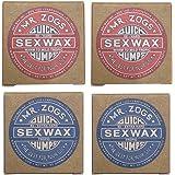 4個セットSEX WAX セックスワックス サーフワックス/サーフボードワックス サーフボード滑り止め WARM(初夏用…