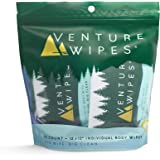 Large Shower Wipes with Aloe, Vitamin E and Tea Tree Oil, Bathing Wipes for Adults, Backpacking Essentials, 10 Count Bag - Ve